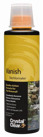 Crystal Clear Vanish Dechlorinator Liquid 8 oz.